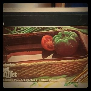 Vintage Anchor Hocking Basket Buffet NIB